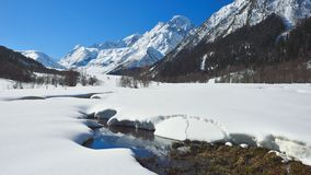 Spring in Caucasus. This is sunny day in Caucasus valley in spring Stock Photography