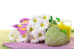Spring celebration composition on the theme of Women's Day Stock Images