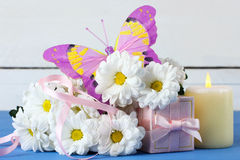 Spring celebration composition on the theme of Women's Day Royalty Free Stock Images