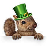 Spring Celebration Squirrel Stock Photo