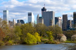 Spring in Central Park, Manhattan, New York. Royalty Free Stock Photos