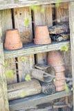 Spring ceramic pots Stock Images