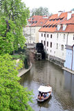 Spring channels in Prague. Royalty Free Stock Image