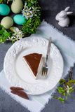 Spring cheese cake with pistachios Royalty Free Stock Photo