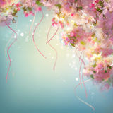 Spring Cherry Blossom Wedding Background stock illustration
