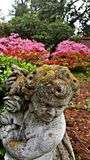 Spring. Cherub at the park stock images