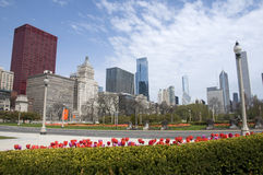 Spring in Chicago Stock Images