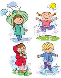 Spring children. Contains transparent objects. EPS10 Royalty Free Stock Photography