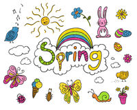 Spring Children's Drawings Royalty Free Stock Photography