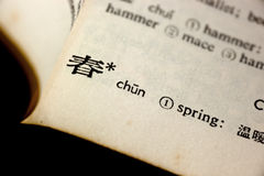 Spring in Chinese Royalty Free Stock Photo