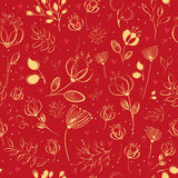 Spring Chinese Flowers. Vector Seamless Pattern stock photography