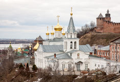 Spring Church of Elijah the Prophet and Kremlin Stock Photography