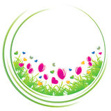 Spring circle. Concept icon,  illustration Royalty Free Stock Image