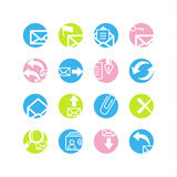 Spring circle e-mail icons Royalty Free Stock Image