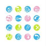 Spring circle e-mail icons stock illustration