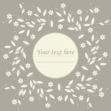 Spring circle frame with cute flowers Royalty Free Stock Images