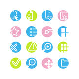 Spring circle image viwer icons Stock Photos