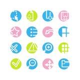 Spring circle image viwer icons royalty free illustration
