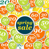 Spring circle labels discount light Royalty Free Stock Images
