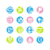 Spring circle server icons Stock Image