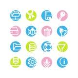 Spring circle server icons royalty free illustration