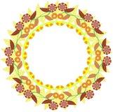 Spring circular ornament royalty free illustration