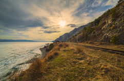 Spring on the Circum-Baikal Road Royalty Free Stock Image