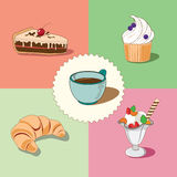 A cup of coffee vector card Stock Photography