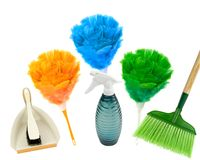 Spring cleaning with colors! Stock Images