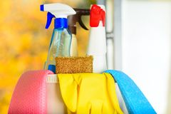 Spring cleaning concept. royalty free stock photo