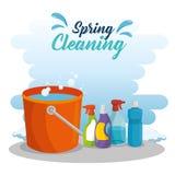 Spring cleaning design stock illustration