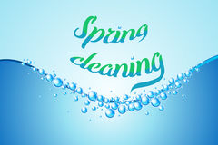 Spring cleaning realistic soap bubbles vector illustration Royalty Free Stock Photos