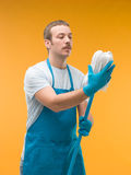 Spring cleaning romance Stock Images
