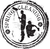 Spring cleaning stamp. Abstract grunge rubber stamp with the text spring cleaning Royalty Free Stock Image