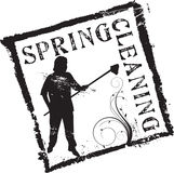Spring cleaning stamp Stock Photography