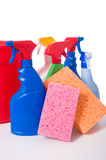 Spring Cleaning Supplies Royalty Free Stock Photos