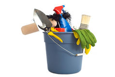 Spring Cleaning Supplies royalty free stock photo