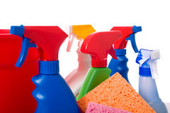 Spring Cleaning Supplies Royalty Free Stock Images