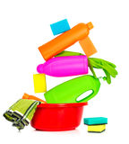 Spring cleaning  supplies Stock Photography