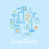 Spring cleaning vector concept. Stock Image