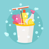 Spring Cleaning vector flat design. Royalty free stock illustration. EPS 10 Stock Photography