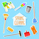 Spring cleaning. Vector illustration eps10 Royalty Free Stock Photography