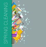 Spring cleaning vertical border background Stock Photography
