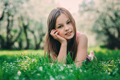 Free Spring Closeup Outdoor Portrait Of Adorable 11 Years Old Preteen Kid Girl Royalty Free Stock Image - 88362216