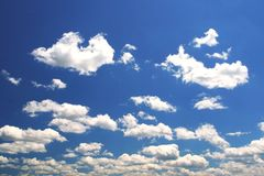 Spring Cloudscape. With Realistic Color Stock Photos