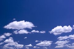 Spring Cloudscape with Realistic Color Royalty Free Stock Photos