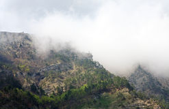 Spring cloudy view of Aj-Petri Mount slop Royalty Free Stock Image