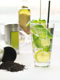 Spring cocktail with Green tea Royalty Free Stock Image