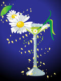 Spring cocktail, vector Stock Photo