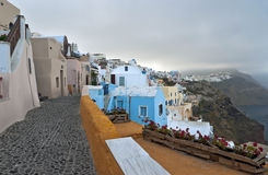 Spring cold morning in Santorini Stock Photography